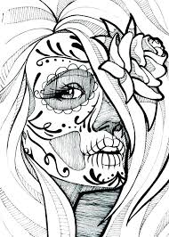Skull Coloring Pages For Adults Sugar Skull Coloring Book And Sugar