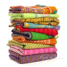 sentinel colorful vintage reversible kantha quilt throw tapestry bedspread small twin