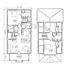 Two story house drawing