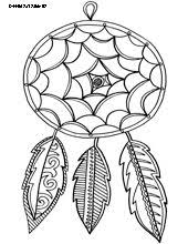 Small Picture Dream catcher coloring pages to download and print for free