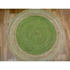 braided jute target green round circle floor rug