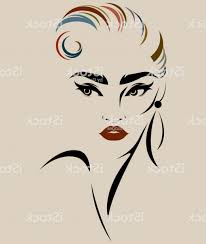 beautiful women logo women face makeup vector gm