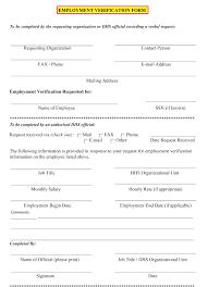 Employment Verification Templates 5 Employment Verification Form Templates To Hire Best Employee