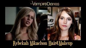 rebekah mikaelson makeup and hair tutorial the vire diaries originals