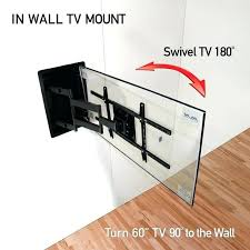 diy tv mounting bracket recessed in wall wall mount turn inch s degrees to the wall