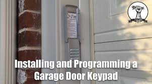 How To Install and Program A Garage Door Opener Keypad - YouTube