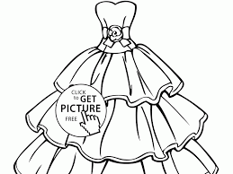 Small Picture Wedding Dress Coloring Pages Blankdress Printable Coloring Pages