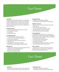 Fact Sheet Template 19 Free Sample Example Format Free