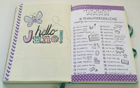 wele to june in my bullet journal