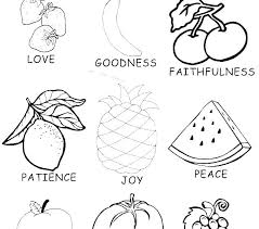 Fruit Of The Spirit Faithfulness Coloring Pages Free Printable