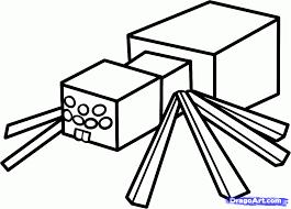 how to draw a minecraft spider minecraft cave spider