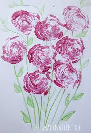 <b>Printing Roses</b> with Celery Stalks - The Imagination Tree