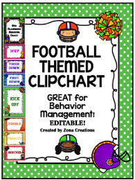 Clip Chart Behavior Management System Editable Football Theme Clip Chart Behavior Management System