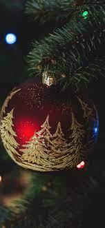 Christmas decorations, red ball iPhone ...