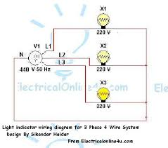 4 wire 220 volt wiring diagram wiring diagram schematics light indicator wiring diagrams for 3 phase voltage coming testing
