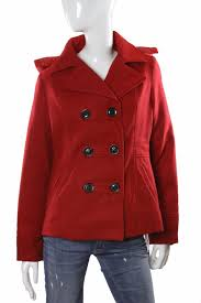 american rag short hooded on up lined jacket red l nwt 43 55
