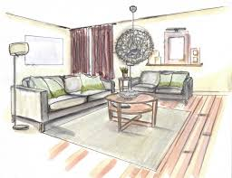 Delighful Interior Design Living Room Drawings Of A Table To Creativity