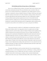 jennifer s child labour essay jennifer s child labour essay 9 2012