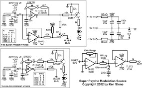 ken stone s modular synthesizer the schematic of the super psycho modulation source click here for a larger version