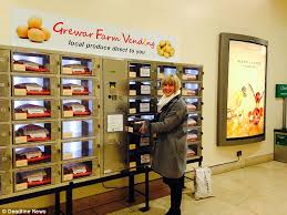 Fruit Vending Machine For Sale Classy Shoppers Can Now Buy Trays Of Potatoes Eggs And Greens From A