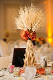 wheat fall centerpiece from the wedding-reminds me a baby bird and I  LOL--but I like it