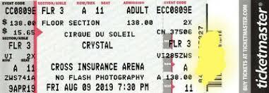 2 Tickets Cirque Du Soleil Michael Jackson One Thurs 2