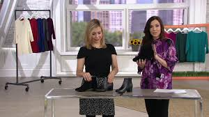 Clarks Leather Ankle Boots Chartli Lilac On Qvc