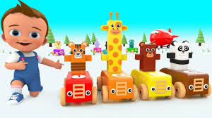 Learning Numbers With <b>Wooden Cartoon</b> Animals <b>Toy</b> Plane for ...