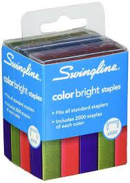 Amazon Com Swingline Color Bright Staples Multi Pack 0 25 Inch