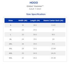 Gildan Hammer Size Chart The Speeding Crow Pressing Co Gildan Hammer T Shirt