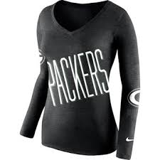 nike outfits for women. women\u0027s green bay packers nike black champ drive 2 long sleeve t-shirt outfits for women