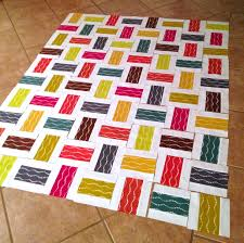 Crossed Paths: A Rail Fence Quilt Tutorial | A Crafty Fox & And assemble your rows into a quilt top Adamdwight.com