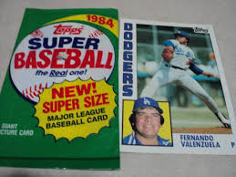 Size Of A Baseball Card 1984 Topps Super Size And 16 Cards Sports Card