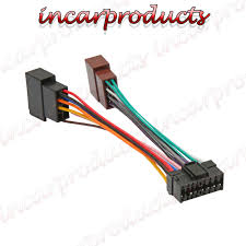 sony 16 pin iso wiring harness connector adaptor car stereo radio wire harness connector repair at Wire Harness Connectors