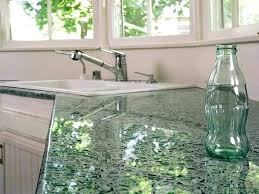 crushed co concrete countertops with glass recycled