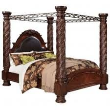 North Shore Cal King Poster Bed with Canopy