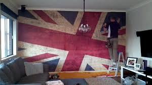 Wallpaper Mural Installation - Grunge Union Jack - YouTube
