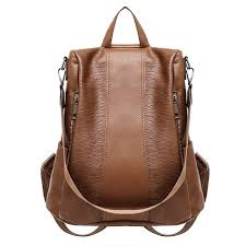 women leisure large capacity travel backpack multi function soft leather shoulder bag best newchic