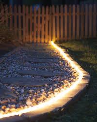 Led Rope Light Ideas The Secret Life Of Rope Light Backyard Lighting Diy Patio