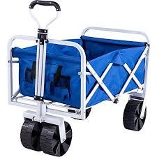 folding garden cart. Serenita Collapsible Garden Cart Folding Utility Wagon With Large Wheel, Blue
