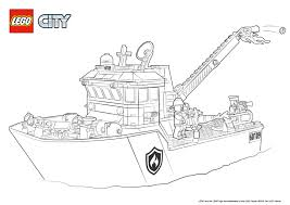 Small Picture Fire Boat Colouring Page LEGO City Activities Com At Lego Coloring
