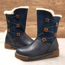 Bke Size Conversion Chart Lostisy Womens Winter Warm Buckle Zipper Snow Boots