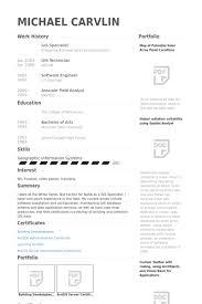 Gis Resume Template Gis Specialist Resume Samples Visualcv Resume