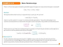 13 example 6 10 molar relationships
