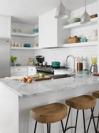 White On White Kitchen Small Space Kitchen Remodel Hgtv