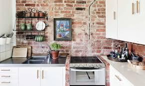 Red Brick Kitchen Backsplash