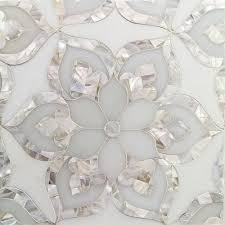 Small Picture Gorgeous Aurora with White Thassos Royal White and Pearl Glass