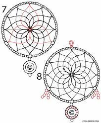 Dream Catcher Patterns Step By Step How to Draw a Dreamcatcher Step by Step Cool100bKids 9