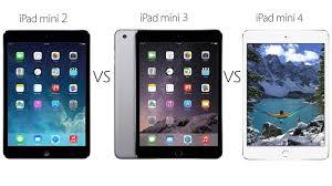 ipad size comparison ipad mini 2 vs ipad mini 3 vs ipad mini 4 comparison tech advisor