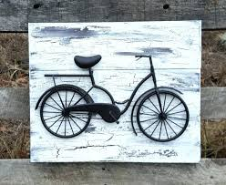 bicycle wall decor art reclaimed wood and cycle by cole grey